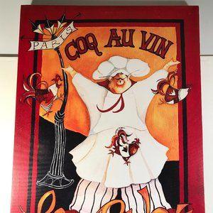 Other - Coq Au Vin Le Poulet French Paris Canvas Wall Deco